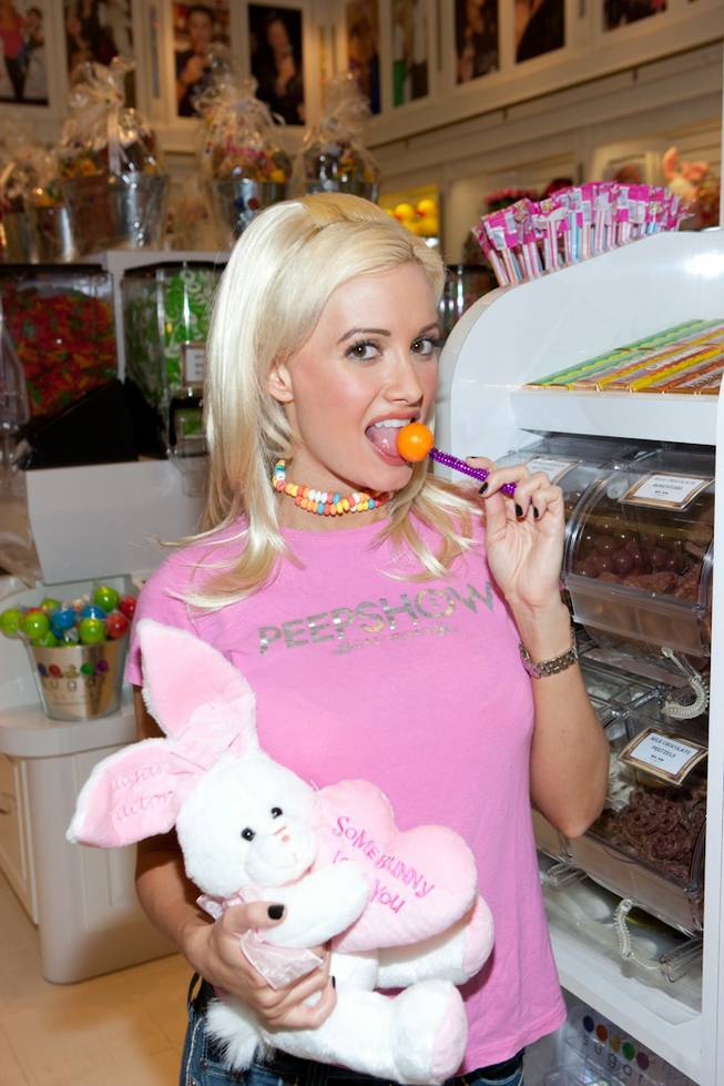 Holly Madison at the Sugar Factory grand opening in Planet Hollywood's Miracle Mile Shops on Feb. 14, 2010.