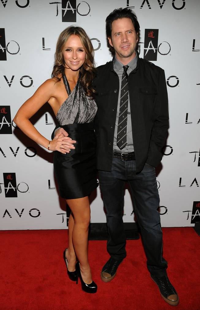 Actress Jennifer Love Hewitt and actor Jamie Kennedy attend the Tao and Lavo anniversary weekend held at Tao in the Venetian Resort Hotel Casino on Oct. 3, 2009, in Las Vegas.