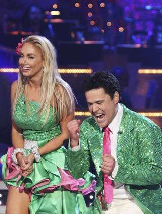 Kym Johnson and Donny Osmond are part of the top three on ABC's Dancing With the Stars.