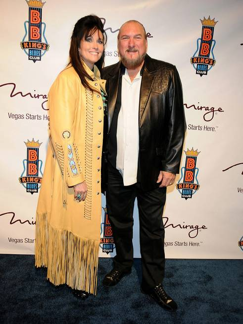 Angel and Steve Cropper at the grand opening of B.B. ...