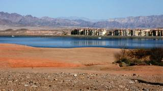 Pictured are condos sitting along Lake Las Vegas.