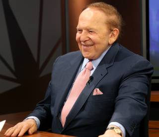 Las Vegas Sands CEO Sheldon Adelson was a guest Thursday on Jon Ralston's show,