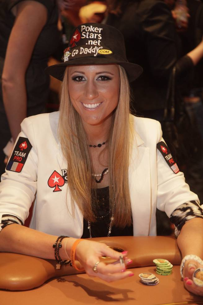 Vanessa Rousso competes in the PokerStars.net North American Poker Tour at The Venetian.