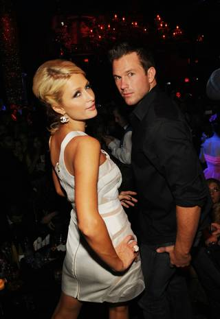 Paris Hilton and Doug Reinhardt celebrate her 29th birthday at Tao in The Venetian on Feb. 20, 2010.