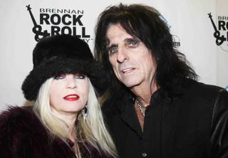 Sally Steele and Alice Cooper at the Brennan Rock and Roll Academy concert on Thursday, Dec. 5, 2013, at Orleans Arena.