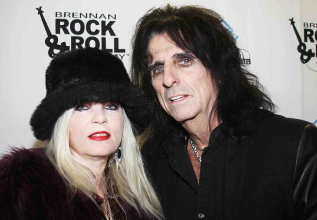 Sally Steele and Alice Cooper at the Brennan Rock and ...