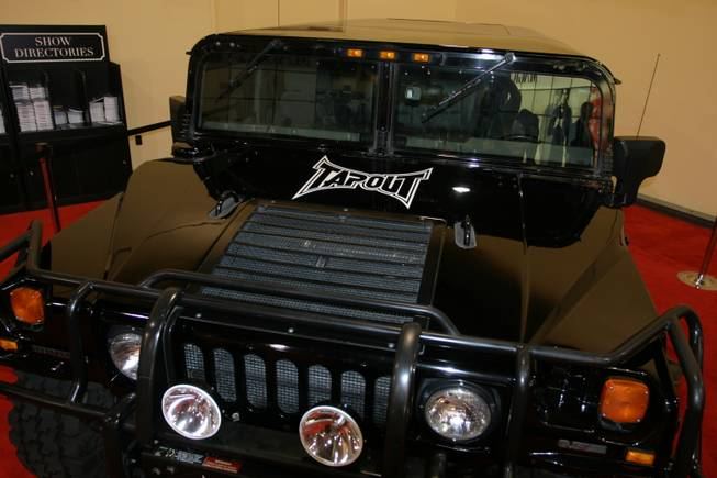 The TapouT Hummer rolled into the MAGIC tradeshow.