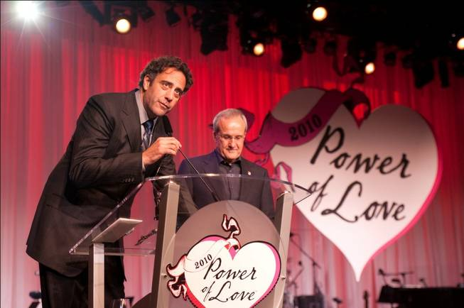 Brad Garrett and Larry Ruvo at the Keep Memory Alive 14th Annual Power of Love Gala at the Bellagio on Feb. 27, 2010.