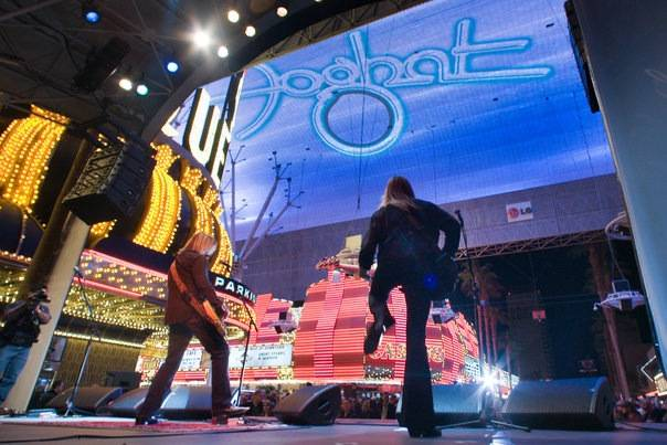Foghat perform at Fremont Street Experience, March 2, 2010.