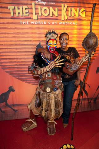 A wax figure of Rafiki from Disney's The Lion King at Mandalay Bay is unveiled at Madame Tussauds in The Venetian on March 4, 2010.