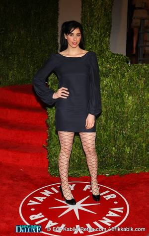 Sarah Silverman at the Vanity Fair Oscar Party at The Sunset Tower Hotel in Los Angeles on March 7, 2010.