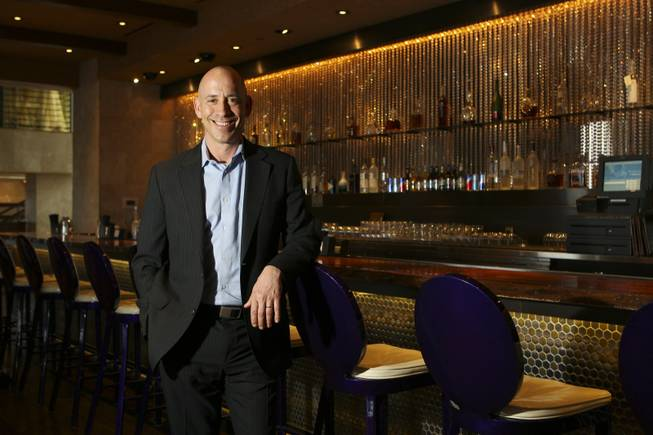 King of clubs: Michael Morton, co-founder of the N9NE Group, is shown at Nove Italiano restaurant, one of his seven venues at the Palms.