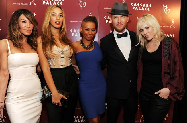Robin Antin, Leona Lewis, Mel B, Matt Goss and Natasha Bedingfield at Caesars Palace on March 12, 2010.