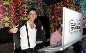 DJ Clinton Sparks performs during David Katzenberg's 27th birthday celebration at Vanity in the Hard Rock Hotel on March 20, 2010.