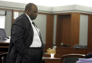 Lacy Thomas, former CEO of University Medical Center, appears in court during a break in jury selection at the Regional Justice Center Monday, March 22, 2010.