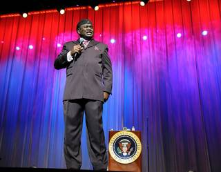 George Wallace performs at the Flamingo Showroom on March 23, 2010.