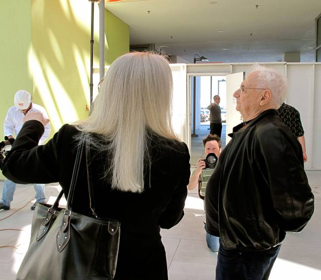 Renowned architect Frank Gehry takes a guided tour of the Cleveland Clinic Lou Ruvo Center for Brain Health, which he designed.