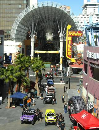 Mint 400 off-road racers parade down Fremont Street to their tech inspections on March 26, 2010.