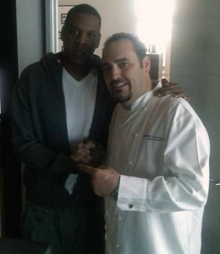 Jay-Z with chef Barry Dakake.