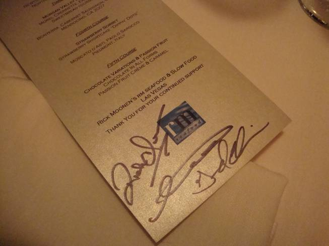 Star chef Rick Moonen's Super Green Cuisine Dinner at RM ...