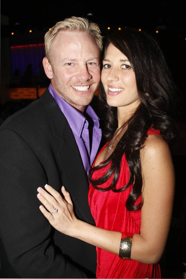 Ian Ziering and fiance Erin Kristine Ludwig at Pure in  Caesars Palace in March 2010.