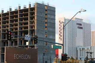 The unfinished Echelon sits vacant on the Las Vegas Strip Thursday, April 1, 2010.