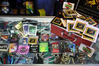 Synthetic marijuana in the form of herbal-incense blends absent the controlled substance THC is on sale at WeedZ Alternatives located at 628 Las Vegas Blvd. S.
