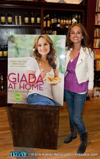 Giada De Laurentiis hosts a signing for her new cookbook Giada at Home: Family Recipes from Italy and California at Sur La Table inside Planet Hollywood's Miracle Mile Shops on April 5, 2010.