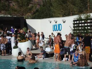The grand opening of Liquid Pool Lounge featuring DJ Tiesto at MGM CityCenter's Aria on April 8, 2010.