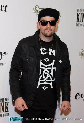 Joel Madden at the grand opening of Mario Barth's King Ink Tattoo Studio and Nightclub at The Mirage on April 10, 2010.