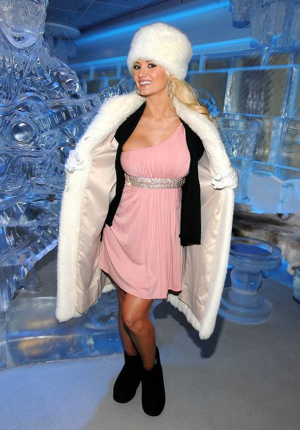 Holly Madison at Minus 5 Lounge in Mandalay Bay on April 13, 2010.