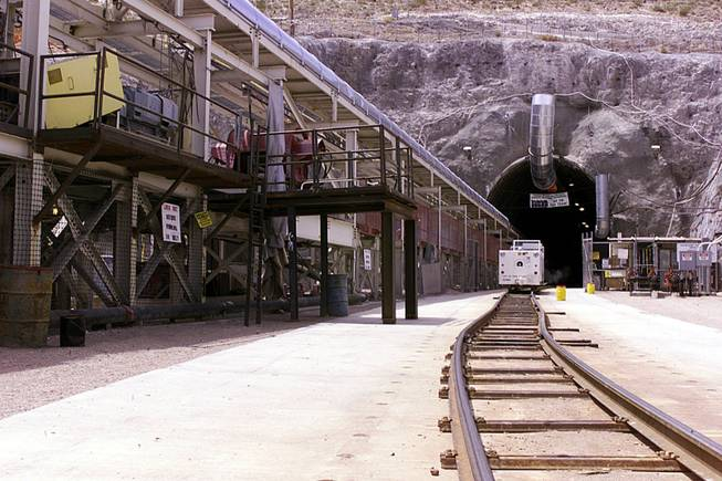 Yucca Mountain is located about 90 miles northwest of Las Vegas.
