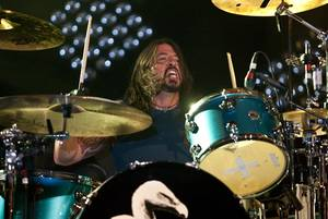 David Grohl of Them Crooked Vultures performs at The Joint at the Hard Rock Hotel on April 17, 2010.