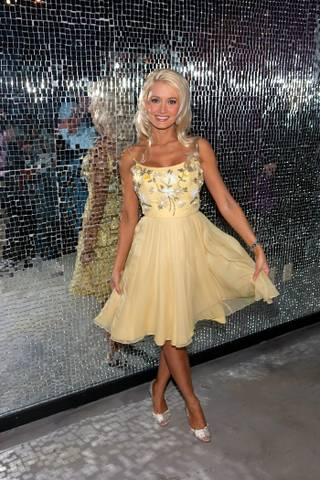 Holly Madison celebrates the first anniversary of Peepshow at the Chi Theater inside Planet Hollywood on April 18, 2010.