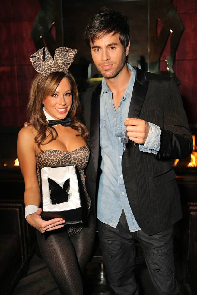 Enrique Iglesias and Playboy Bunny Tiffany at The Playboy Club in the Palms.