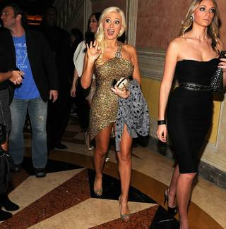 Holly Madison hosts New Year's Eve at Lavo at the Palazzo on Dec. 31, 2010.