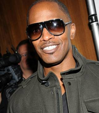 Jamie Foxx celebrates his 44th birthday at the Palms on Dec. 12, 2010.