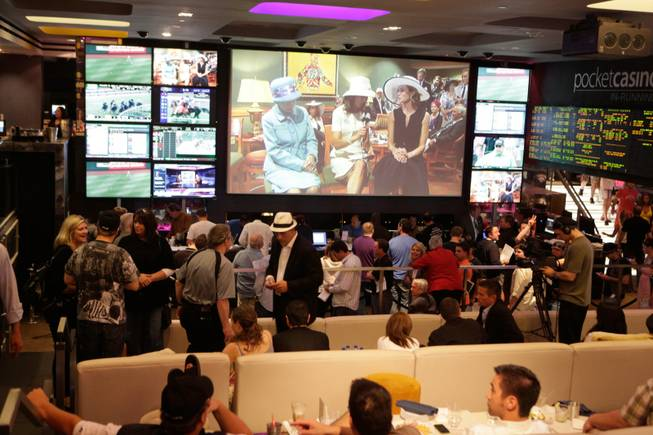 Chazz Palminteri hosts a Kentucky Derby viewing party at Lagasse's Stadium in the Palazzo on May 1, 2010.