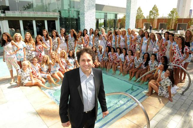 George Maloof and the 2010 Miss USA Pageant contestants at Simon Restaurant at Palms Place on May 9, 2010.