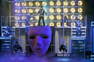 Jabbawockeez perform during the opening night of their show <em>MUS.I.C</em> at MGM Grand on May 7, 2010.