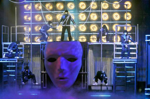 Jabbawockeez perform during the opening night of their show MUS.I.C at MGM Grand on May 7, 2010.