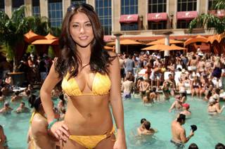 UFC ring girl and Maxim cover model Arianny Celeste at Tao Beach on May 15, 2010.