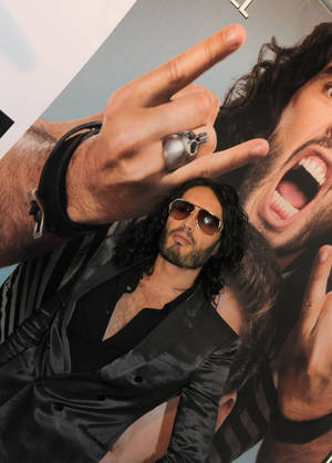 Russell Brand on the <em>Get Him to the Greek</em> red carpet at Planet Hollywood on May 20, 2010.