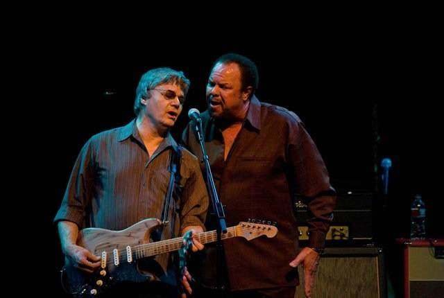Sonny Charles of Checkmates fame with Steve Miller in concert