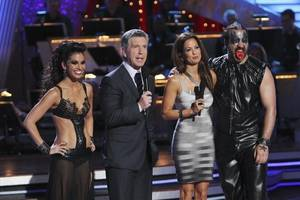 Melissa Rycroft, Tom Bergeron, Brooke Burke and Joey Fatone on <em>Dancing With the Stars</em> on May 18, 2010.