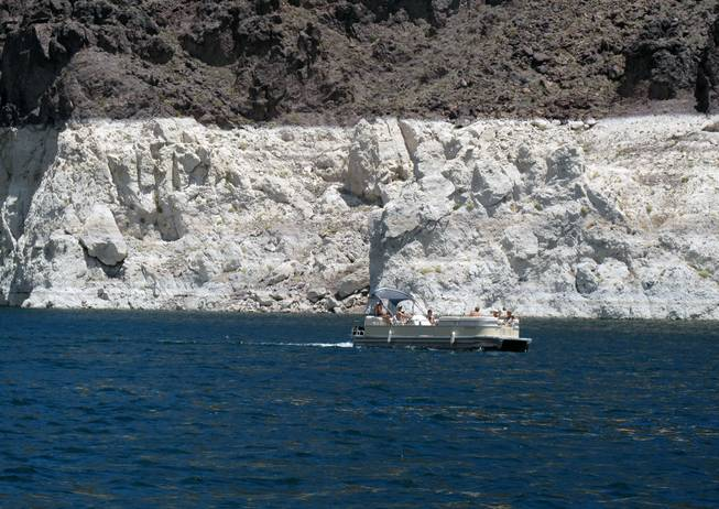 Visitors to Lake Mead National Recreation Area enjoy the water and sunshine on the lake.