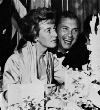 Barbara and Hank Greenspun are pictured in this undated file photo.