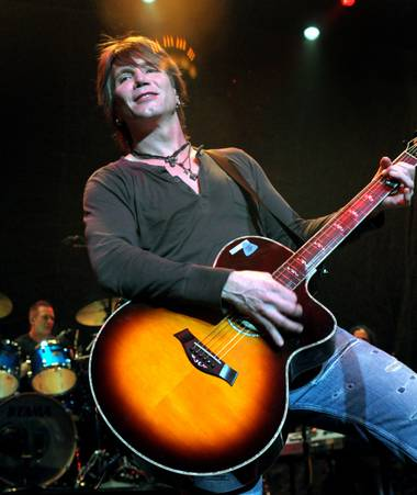 John Rzeznik performs with his band Goo Goo Dolls at The Pearl in the Palms on June 5, 2010.