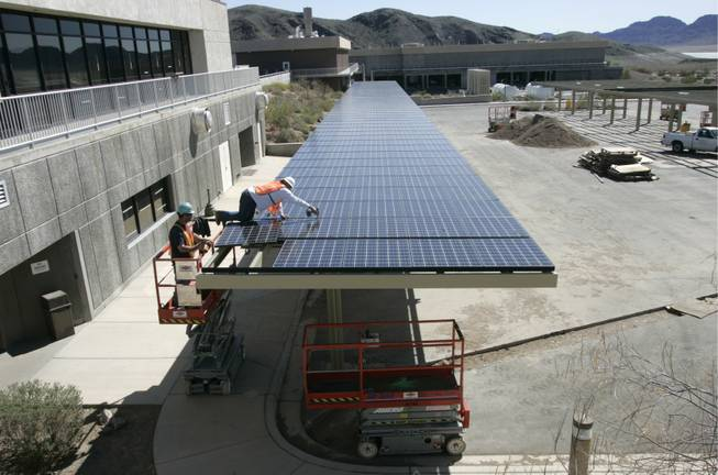 The installation of solar panels could be a common sight in Nevada if contractors buy into the state's plan.