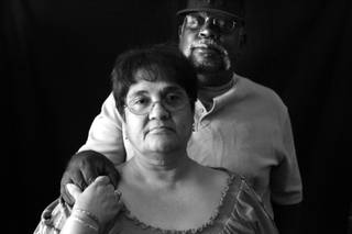 Tyrone Bush and his wife Martha inside their lawyer's office in downtown Las Vegas Friday, June 11, 2010. In September 2008, Bush had a quadruple heart bypass operation at Desert Springs Hospital Medical Center. The operation was successful, but he developed severe decubitus ulcers, or bedsores, on his buttocks and heels after not being turned or moved enough in his hospital bed. Two years later, Bush cannot work, the wounds are still healing and still cause him severe pain. The Bush's have filed a lawsuit against Desert Springs.